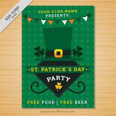 s day poster geometric green st s day poster vector free