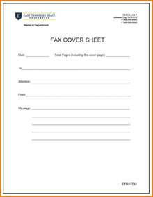 cover letter fax