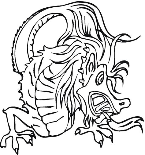 coloring pages of dragon faces free coloring pages of chinese dragon face