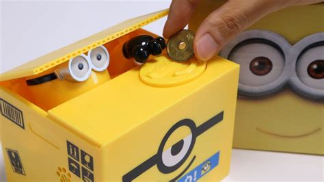 Saving Box Bank Minion minions piggy bank trick saving box