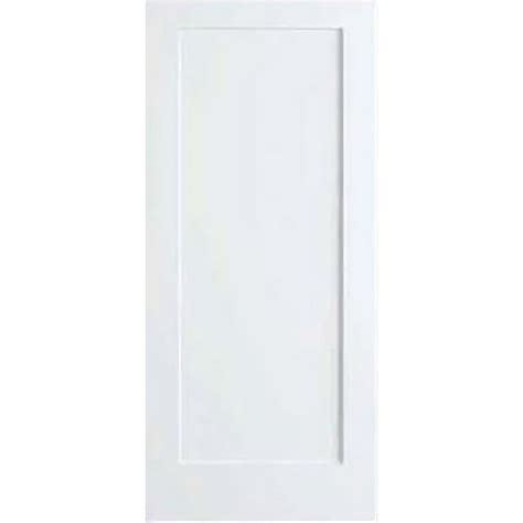 Home Depot White Interior Doors Bay 30 In X 80 In White 1 Panel Shaker Solid Wood Interior Door Slab Dpsha1w30