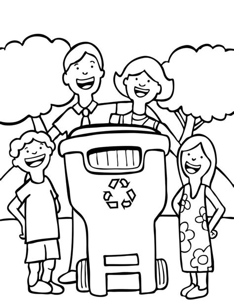 Recycling Coloring Pages Printable recycling coloring pages free az coloring pages