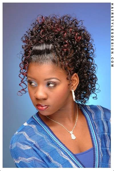 cute african american hairstyles with a bump ponytail hairstyles for black girls french fashions