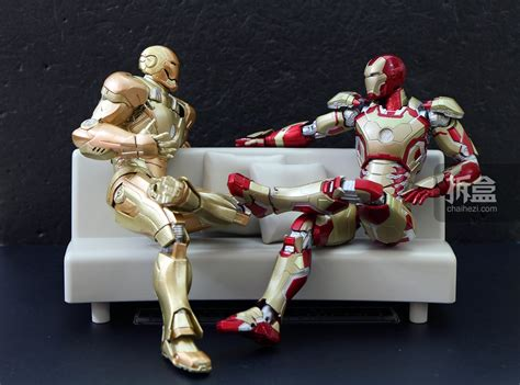 Shf Ironman Mk 43 jual mainan figure ironman 43 shf bonus kursi