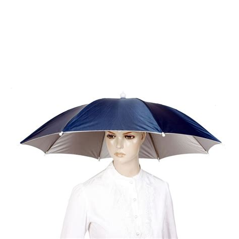 umbrella hat outdoor large cycling fishing umbrella hat raining umbrella hat cap ebay