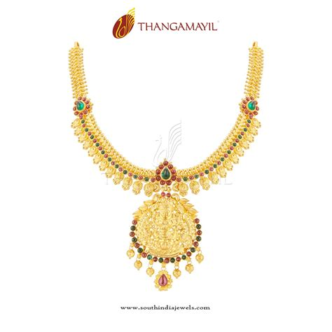definition design jewelry gold antique temple necklace from thangamayil south