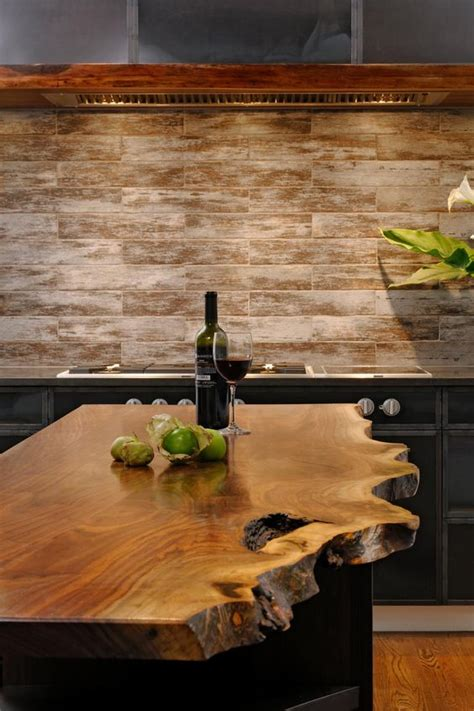 Rustic Kitchen Countertops 30 Rustic Countertops That Add Coziness To Your Home Digsdigs