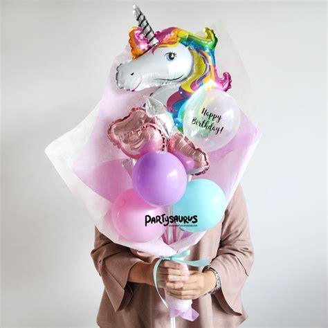 Balon Foil Mini Balon Balon Anniversary Balon Lucu unicorn balloon bouquet partysaurusland