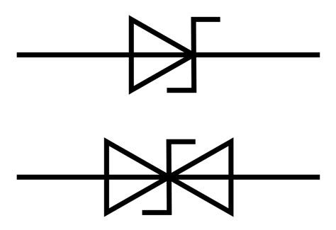 vector diode symbol file tvs diode symbols svg wikimedia commons