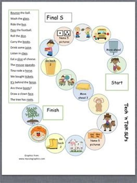 S Articulation Worksheets by 1000 Images About Articulation S Z On
