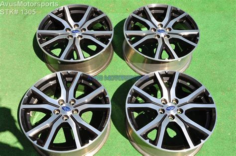 subaru factory wheels 17 quot subaru impreza oem factory genuine wheels ebay