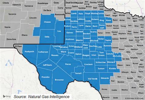 permian basin texas map texas county map permian basin