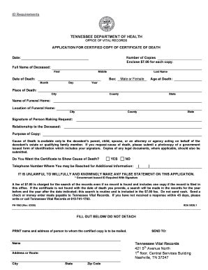 Divorce Records Tennessee Tennessee Birth Certificate Application Form