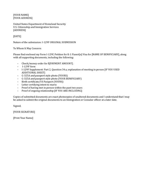 Employment Letter For Fiance Visa Application Letter Sle Cover Letter Sle Visa