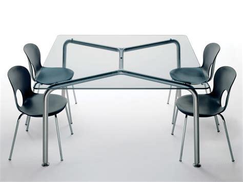 tavolo quadrato cristallo tavolo quadrato in acciaio e cristallo convito tavolo