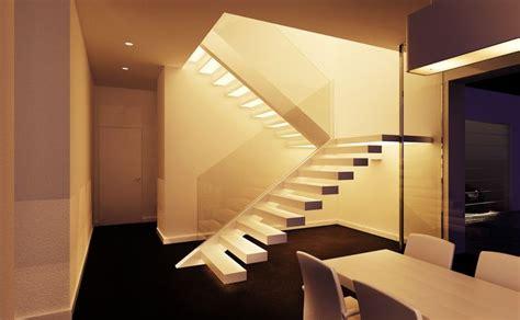 corian treppe kragarmtreppe mit stufen aus corian innen mit led