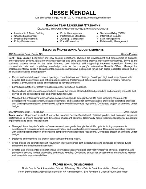 resume templates for leadership team leader sle resume production engineer 4