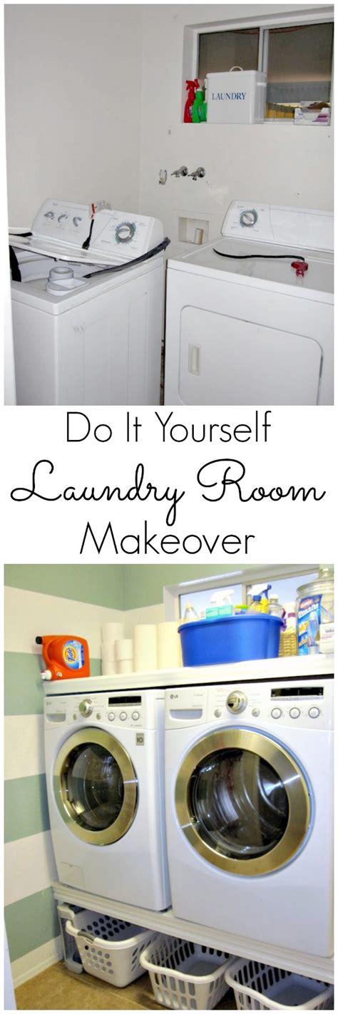 diy small laundry room makeover diy laundry room makeover www classyclutter net jpg