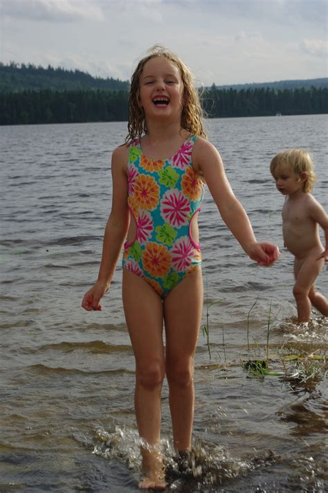naturism kids gallery water girl rosie and the nudist in the water at