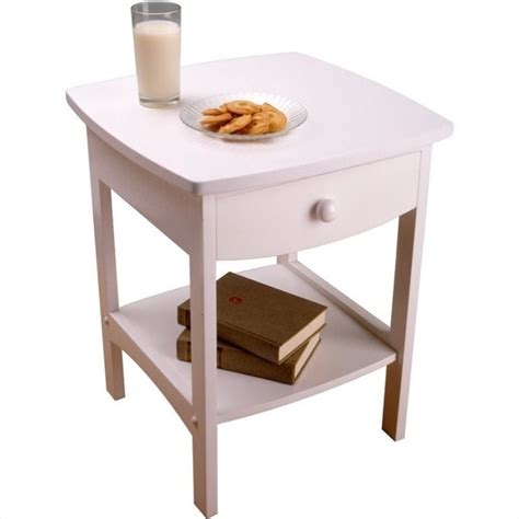 white end tables winsome basics solid wood nightstand white end table ebay