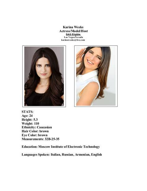 acting modeling resume weeks modeling acting resume
