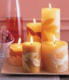 candle centerpiece ideas table decoration with fall leaves and candles