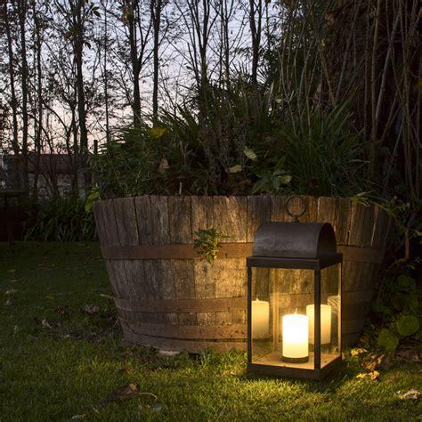 lanterna con candela lanterna da giardino con candela in ferro o ottone il fanale