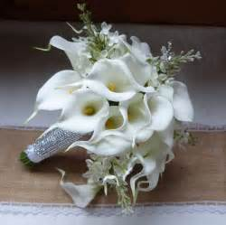 white calla lily wedding bouquet simple by