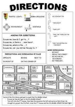 get printable directions 147 free esl giving directions worksheets