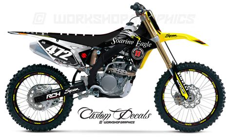 Rch Suzuki Graphics 2015 Rmz Rch Replica Graphics Kit Workshop Graphics