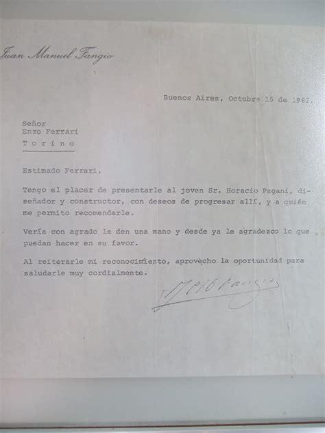 Lettre De Recommandation Jeannine Manuel Horacio Pagani Les Temps Modernes Lamborghini