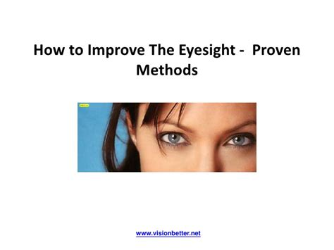 how to improve the eyesight proven methods