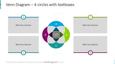 modern venn intersection diagrams powerpoint template