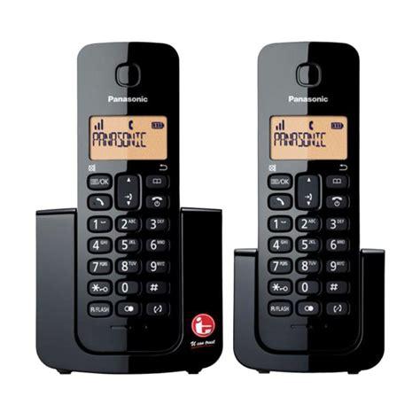 Telepon Wireless Panasonic Kx Tgc210 Termurah jual telepon wireless panasonic kx tgb112 telepon wireless rumah kantor black harga