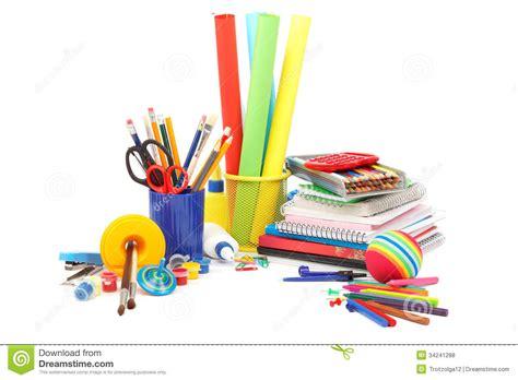 articoli x ufficio scuola e articoli per ufficio fotografia stock immagine