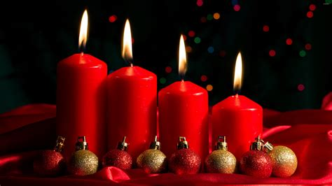 candele lilla advent candles and baubles wallpaper