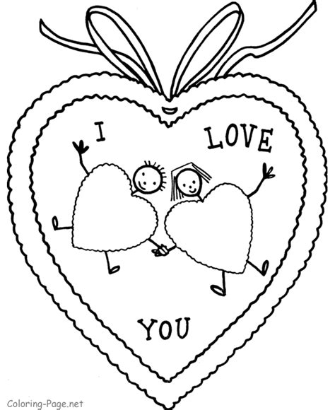 Valentine Coloring Sheet I Love You Valentines Coloring Pages Printable