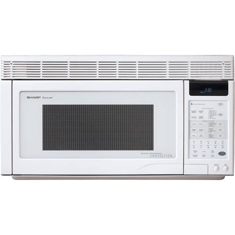 White Ceramic Home Decor by Shop Sharp 1 1 Cu Ft Over The Range Convection Oven