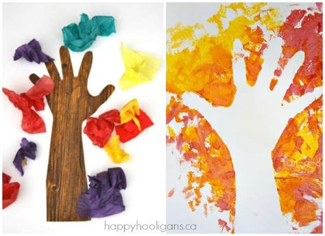 tree craft ideas 19 easy and adorable handprint crafts for fall happy