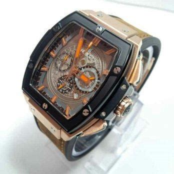 Jam Tangan Alexandre Christie 8440 Cowok Gold Brown harga jam tangan hublot senna leather brown gold