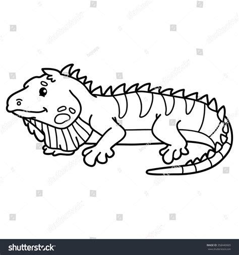 cute iguana coloring page cute iguana vector illustration of cute cartoon iguana