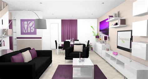 Decoration Interieur Salon Sejour by D 233 Co Int 233 Rieur Pourpre S 233 Jour Salle 224 Manger Cuisine