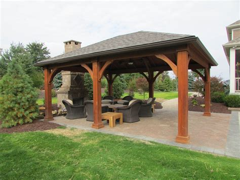 Backyard Structure by Pavers Landscapes Rock Bottom Landscaping Strongsville