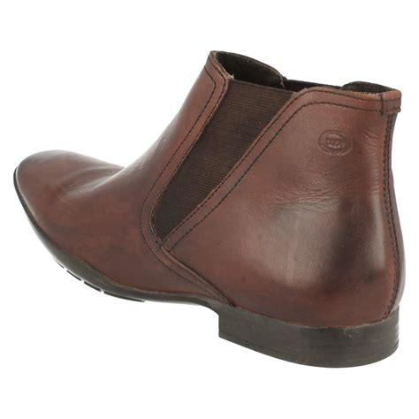 mens base casual ankle boots leo ebay