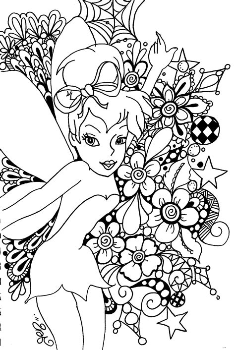 Tinkerbell Coloring Pages Adult | free printable tinkerbell coloring pages for kids