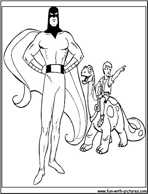 space ghost coloring pages spaceghost and dinoboy coloring page