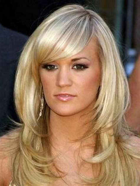 medium very layered hair layered hairstyles with bangs for medium length hair
