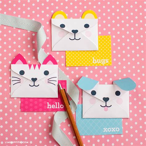 printable animal envelopes kid s valentine project round up lia griffith