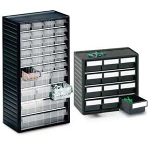 treston 174 small parts storage clear drawer cabinets