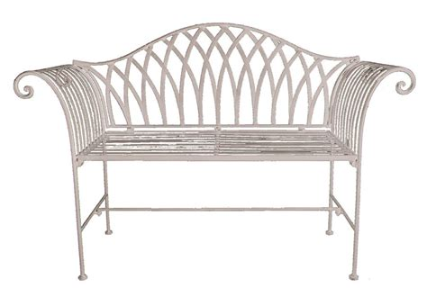 antique cream shabby chic garden bench savvysurf co uk